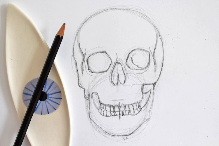 How To Draw A Skull In 4 Simple Steps