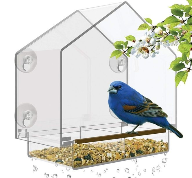Comedero para pájaros de ventana