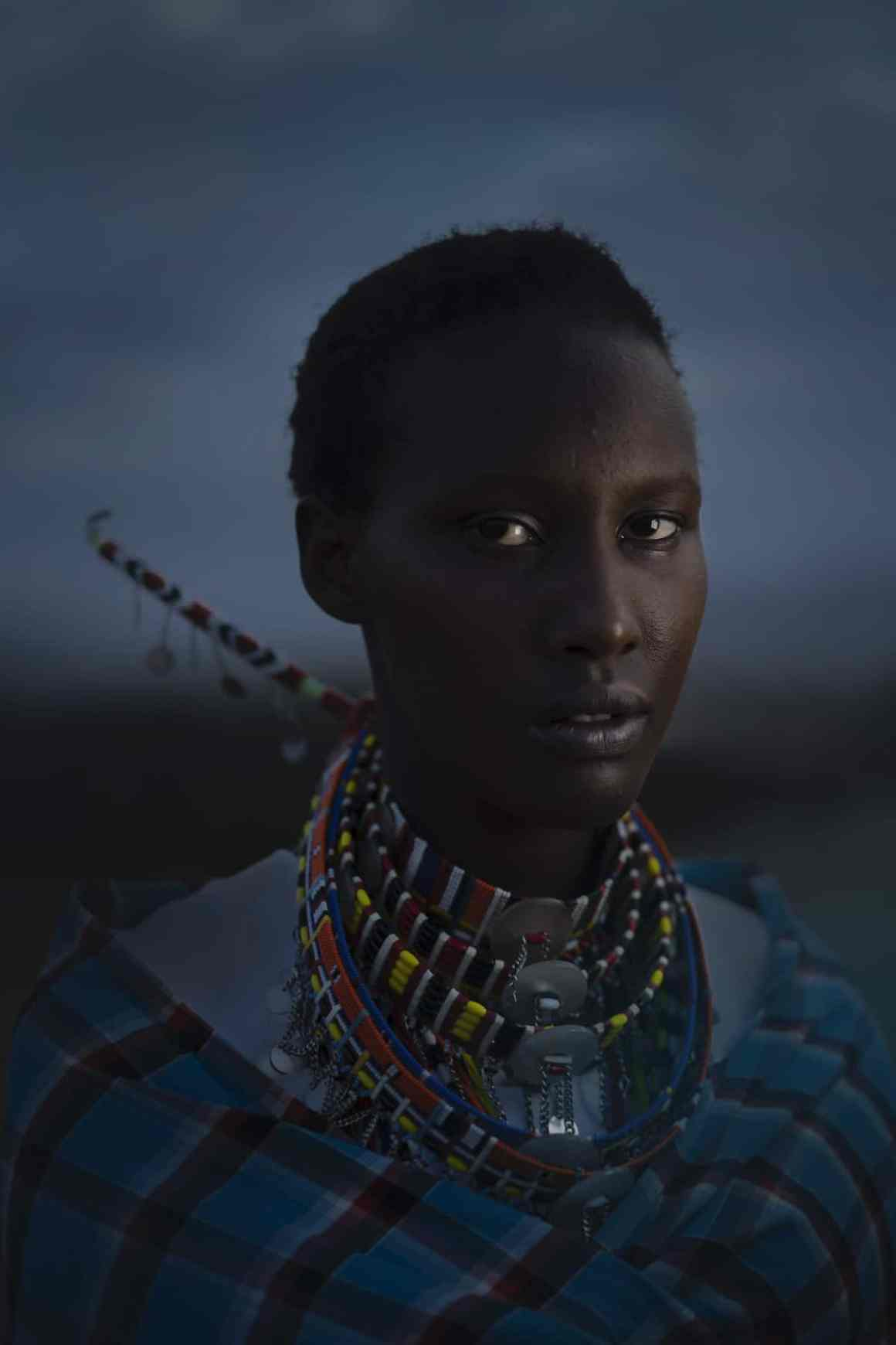 Portrait of Maasai Girl