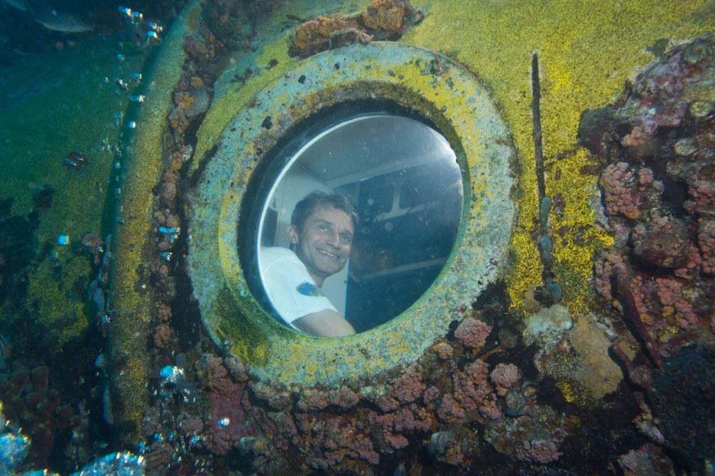 Fabien Cousteau in Aquarius