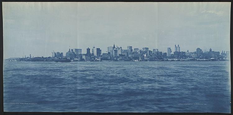 Manhattan From Brooklyn Cyanotype