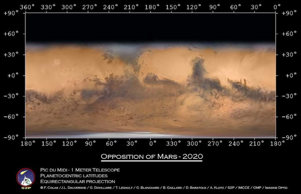 Detailed Map of Mars