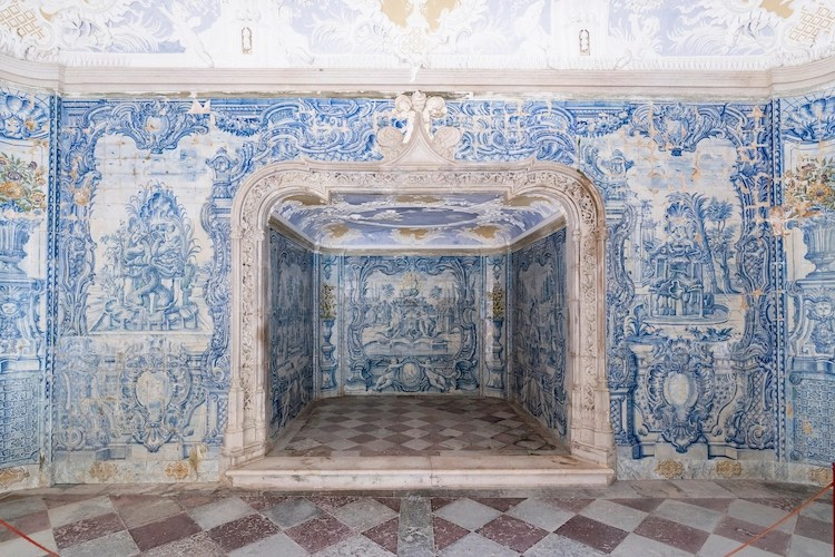 Azulejos Inside Sintra National Palace Portugal