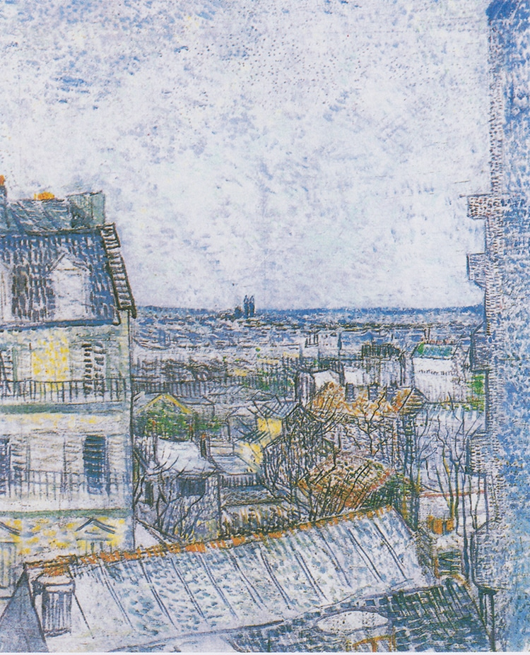 """View of Paris from Vincent's Room in the Rue Lepic,"" by Vincent van Gogh"
