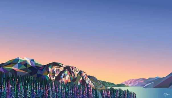 Geometric Landscape Painting