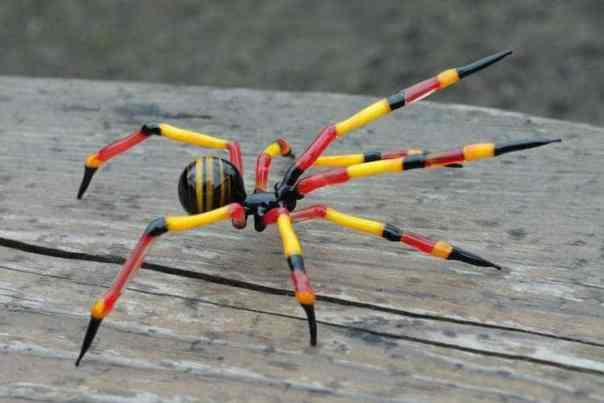 Hand Blown Glass Spiders