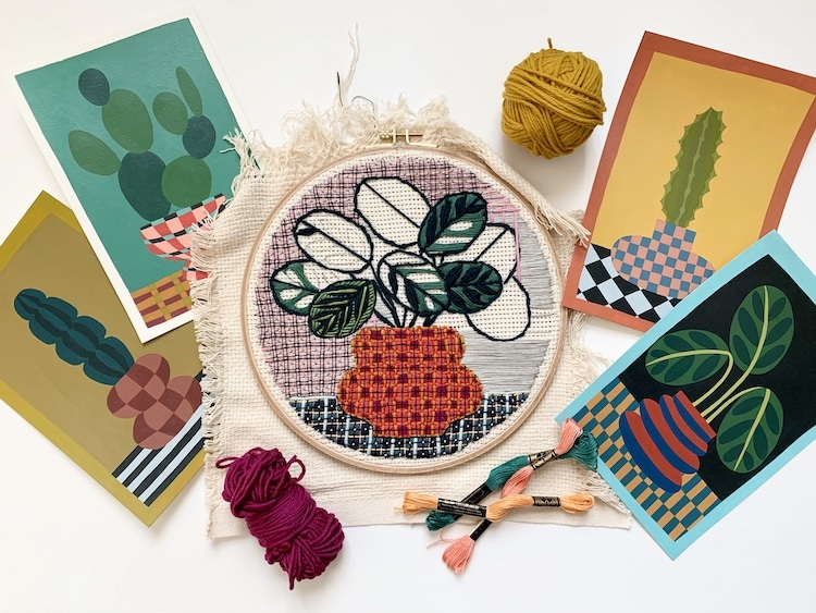 Embroidery Artist Sarah K. Benning on Top Artist Podcast
