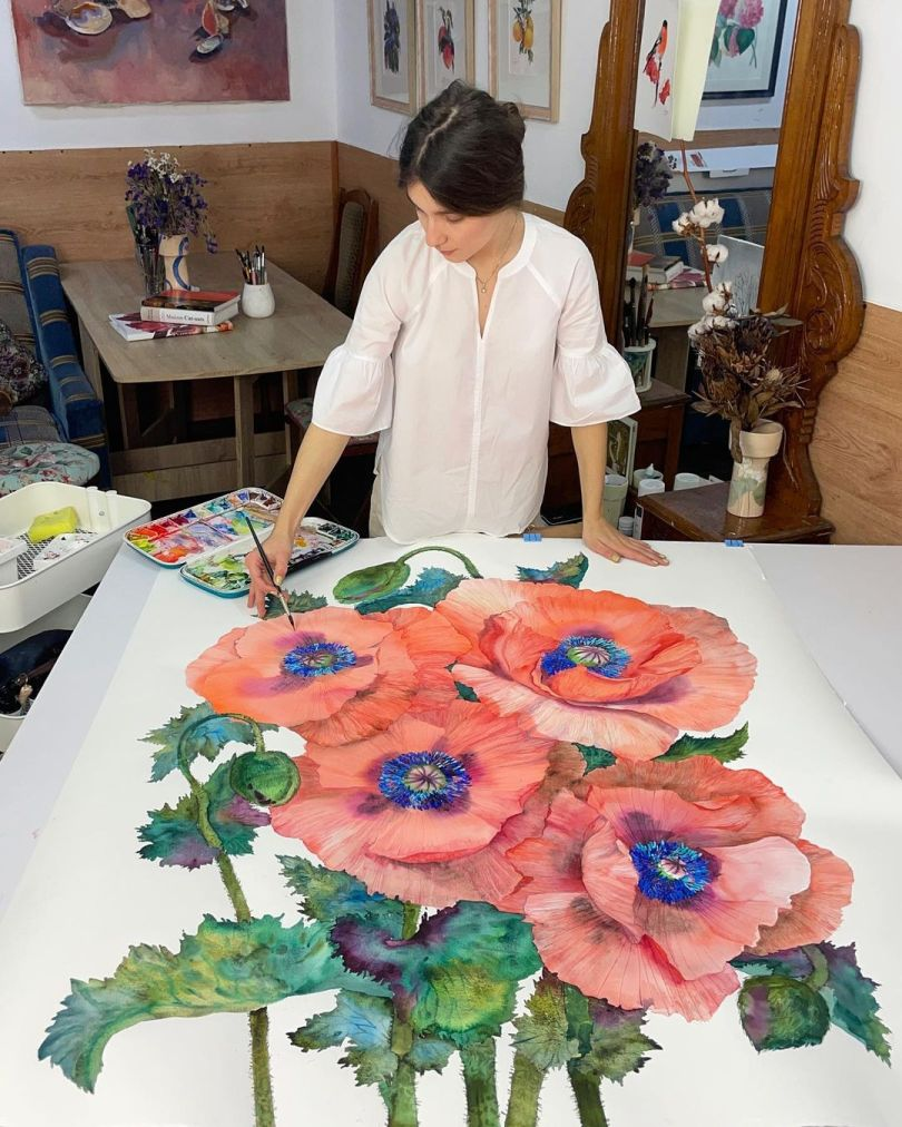 Flower Paintings by Janet Pulcho