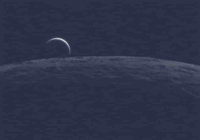 Venus on the Horizon of the Moon