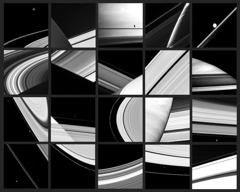 Mosaic of Cassini Mission Photos