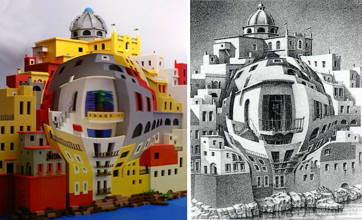 M C  Escher Art Recreated Using LEGO Bricks  5 Structures