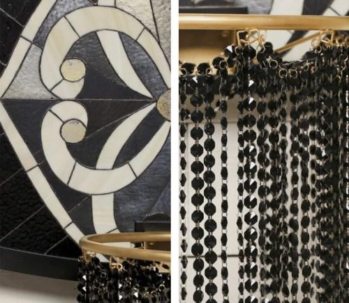 Backboard Art Literally Balling Victor Solomon Basketball Goal Stained Glass Sports Beads Detail Hoop Black Gold