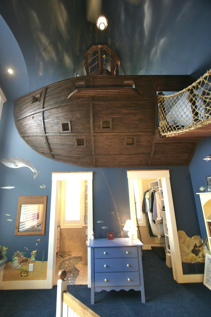 pirate ship bedroom by designer steve kuhl is a kid's dream come true