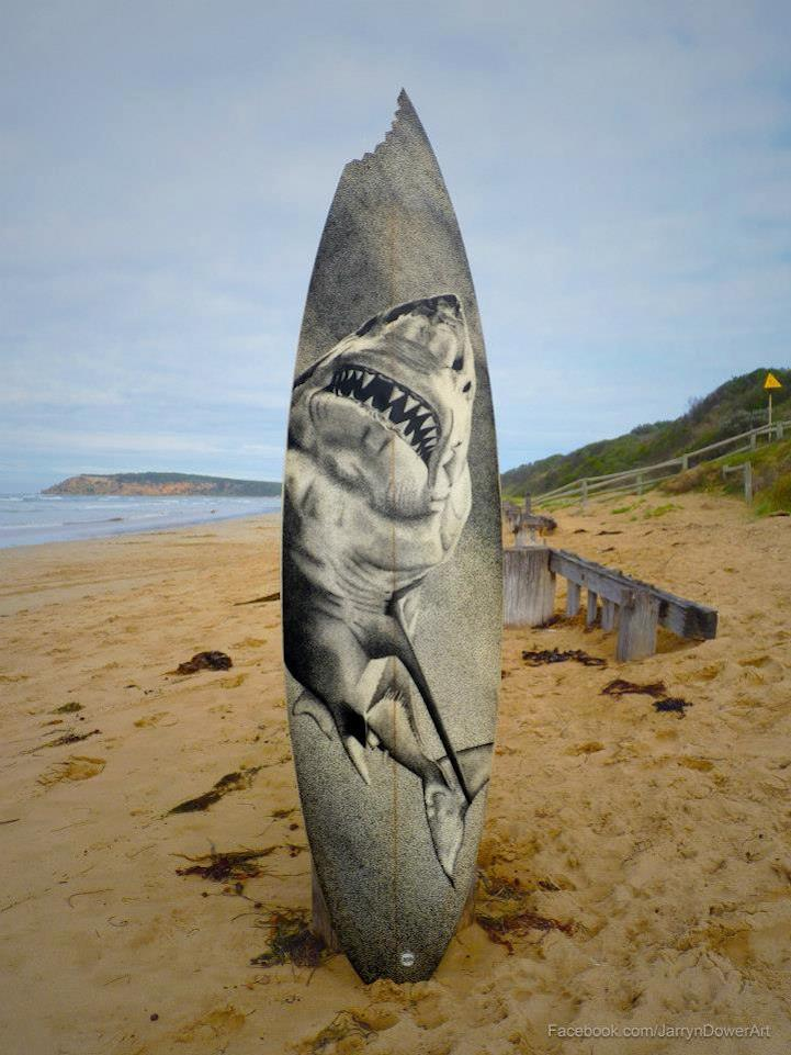 Intricate Drawings On Surfboards Created With Over 200000