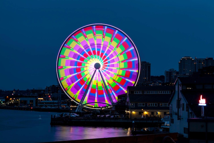 Image result for seattle great wheel ferris wheel images