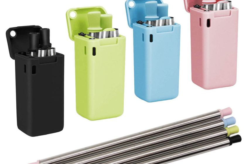 Collapsible Metal Straws