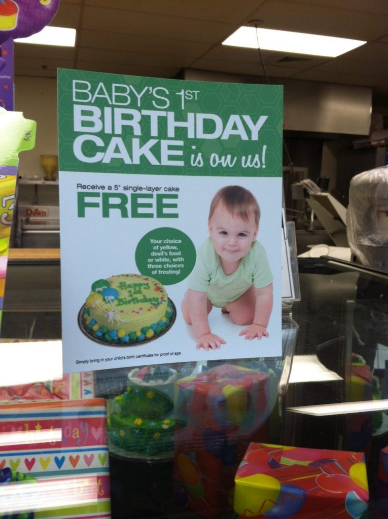 Free Birthday Cake at Tops Markets