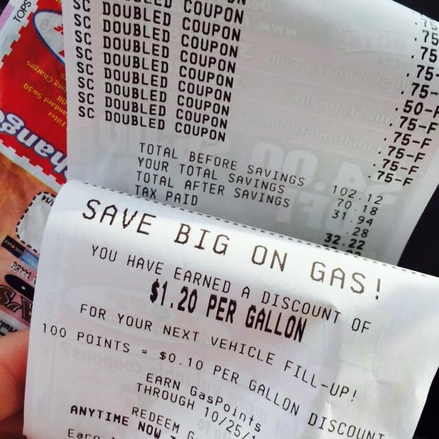 tops receipt