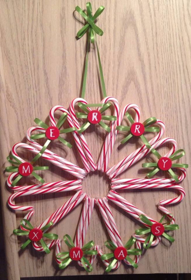Candy Cane Wreath My Momma Taught Me