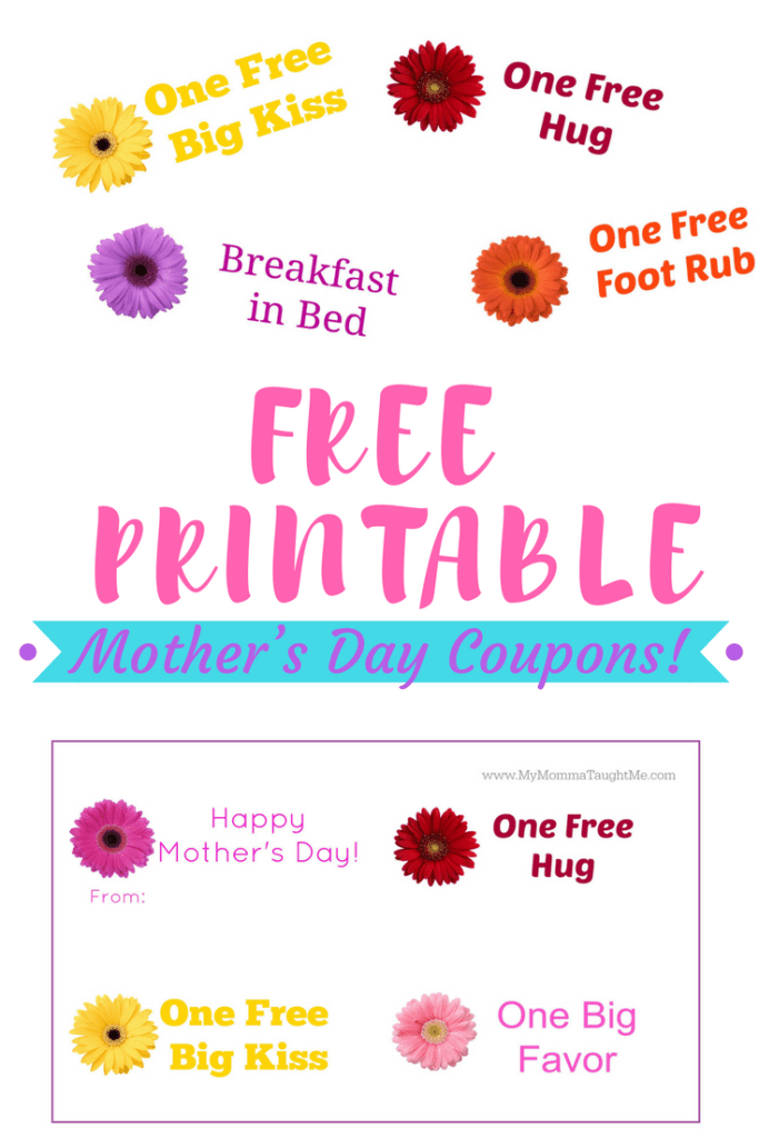 Mothers Day Free Printable Coupons