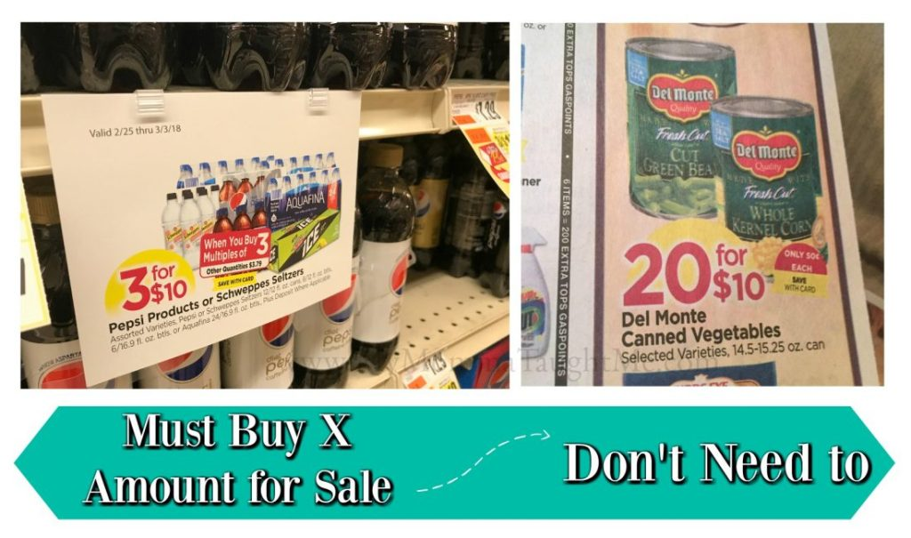Must Buy X Amount Vs Not At Tops Markets