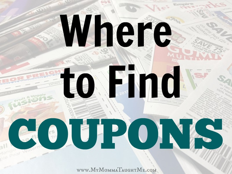 Coupon Insert Schedule for 2018