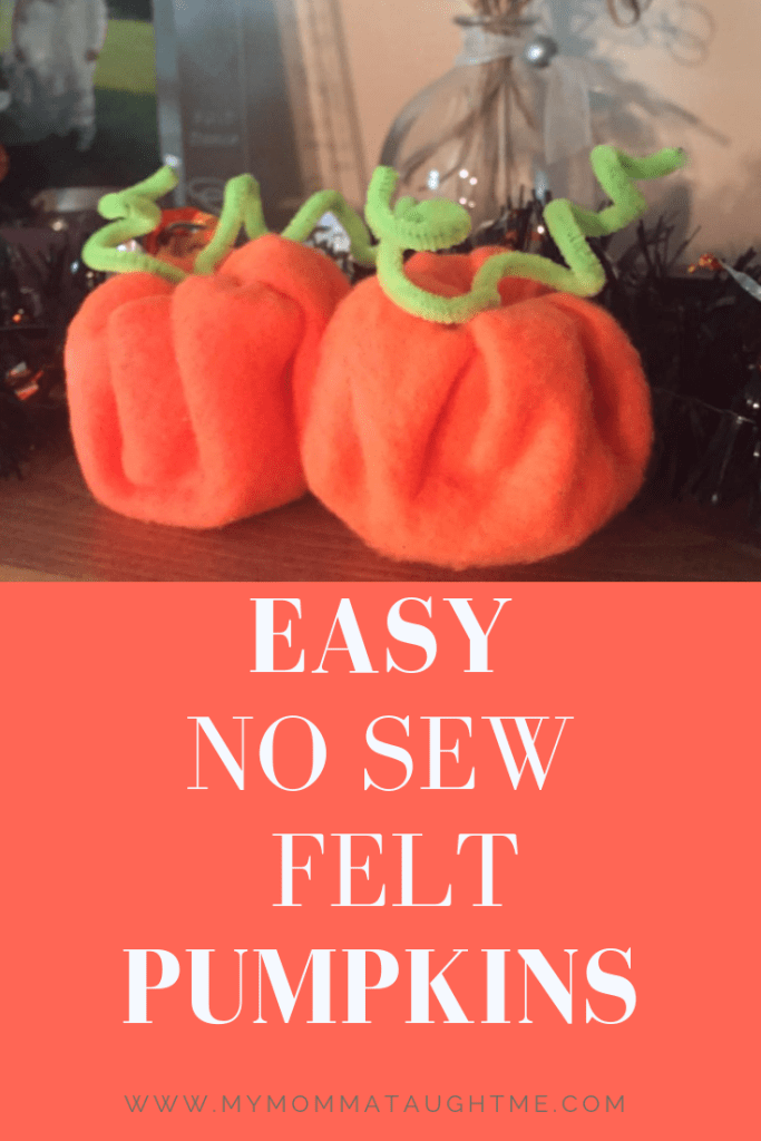 Easy No Sew Felt Pumpkins