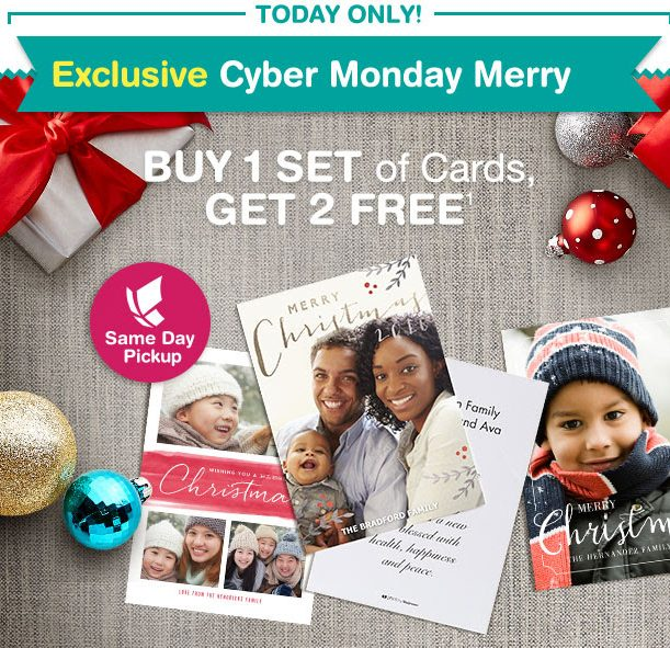 Score 2 Sets of Cards for FREE when you purchase One set from Walgreens