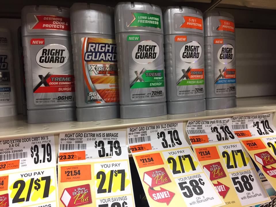 Right Guard Extreme At Tops Markets