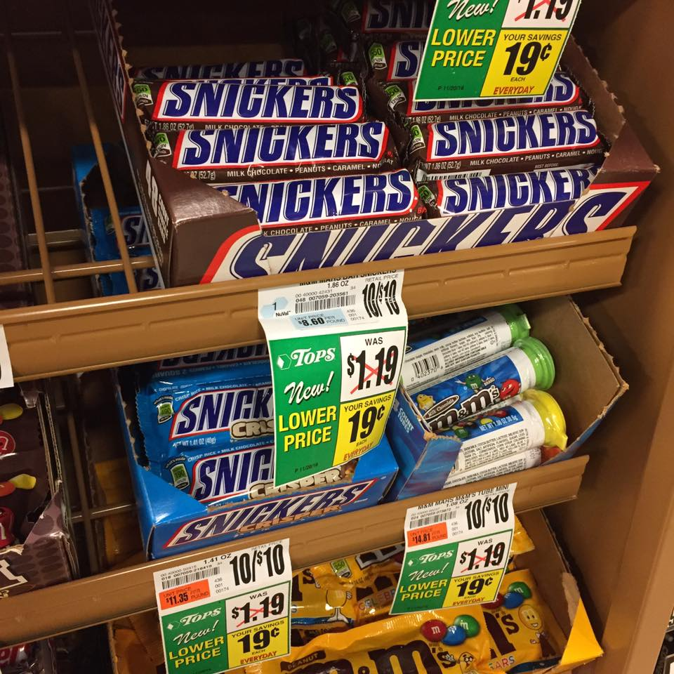 Snickers Sale At Tops Markets