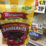 Mariani Dried Cranberries Free At Tops Markets