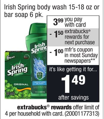 Irish Spring Body Wash Deal At Cvs