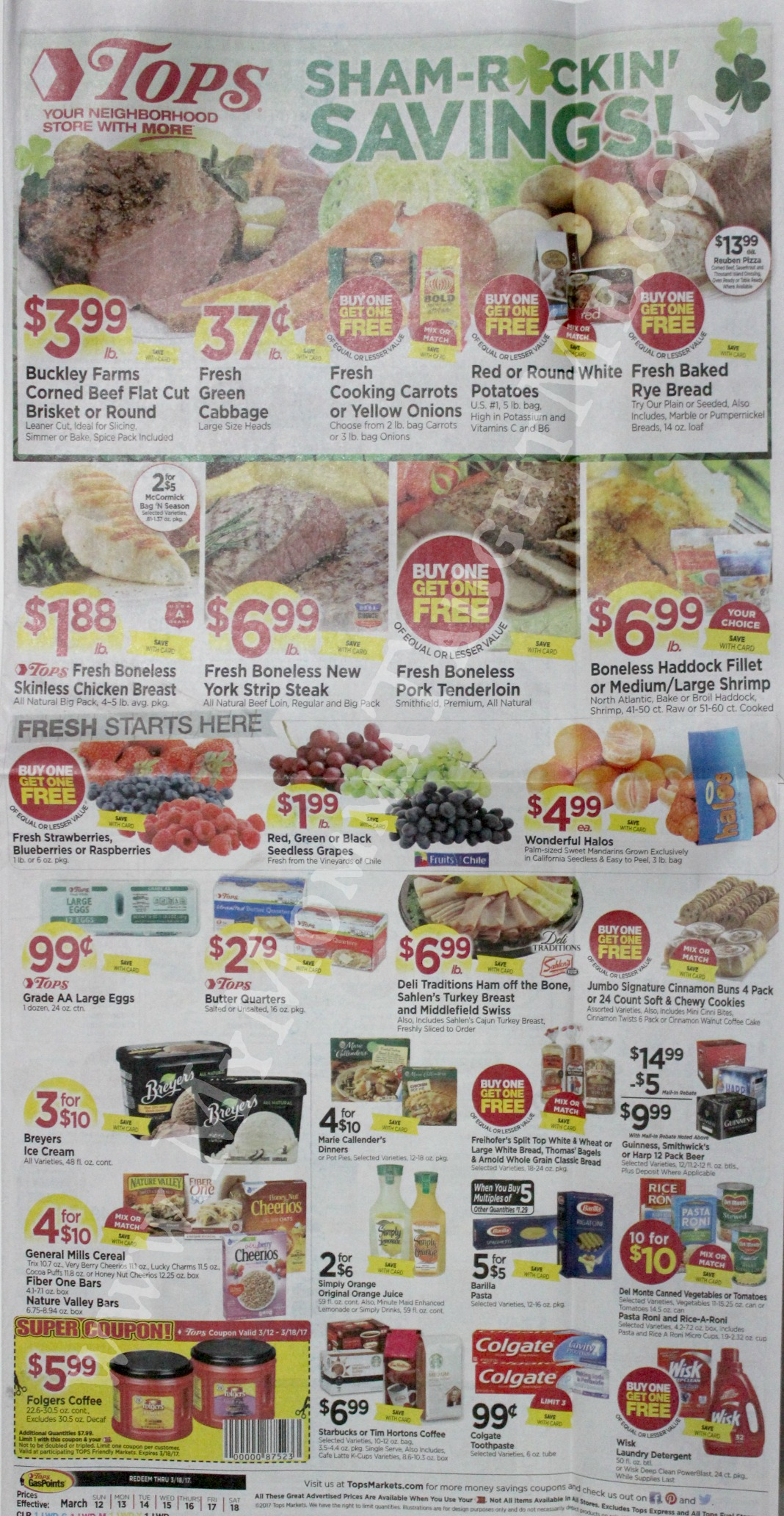 Tops Markets Ad Scan Week Of 3 12 17 To 3 18 17 Page 1