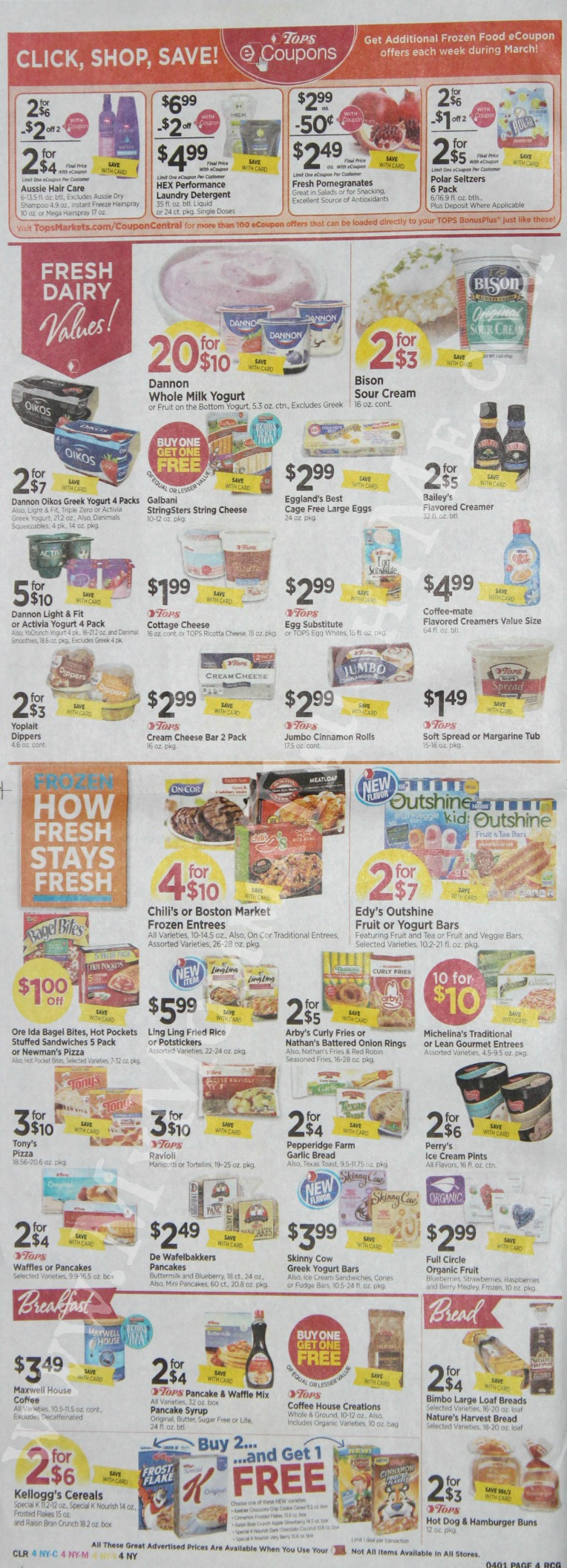 Tops Markets Ad Scan Week Of 3 26 17 To 4 1 17 Page 4