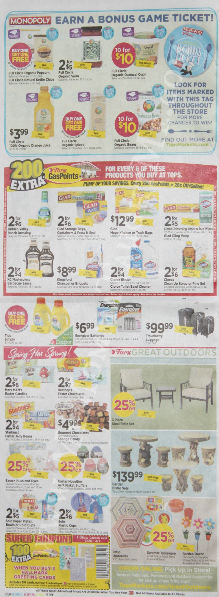 Tops Markets Ad Scan Week Of 3 26 17 To 4 1 17 Page 6