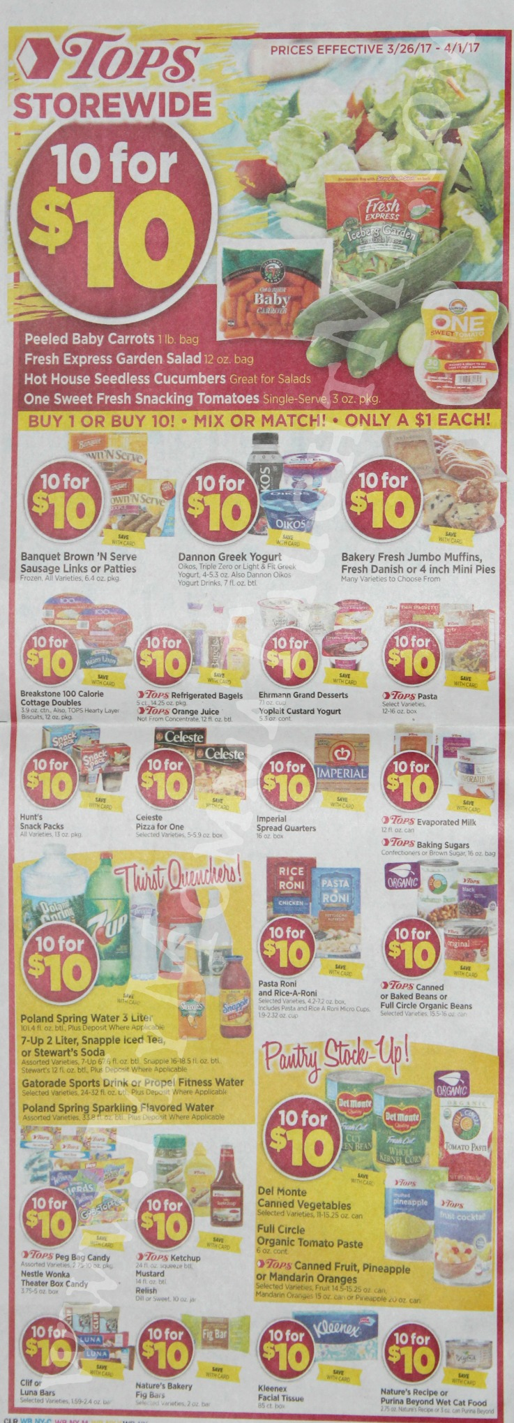 Tops Markets Ad Scan Week Of 3 26 17 To 4 1 17 WB