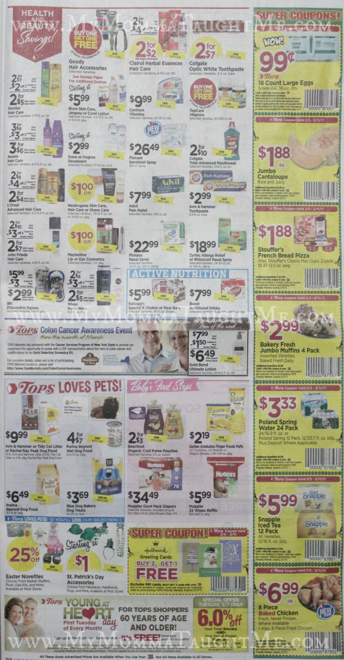 Tops Markets Ad Scan Week Of 3 5 17 To 3 11 17 Page 7