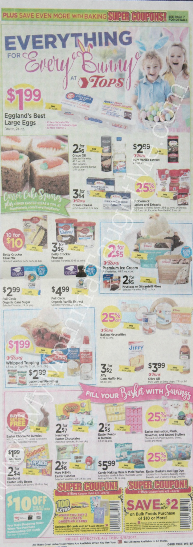 Tops Markets Ad Scan Week Of 4 2 17 To 4 8 17 WB