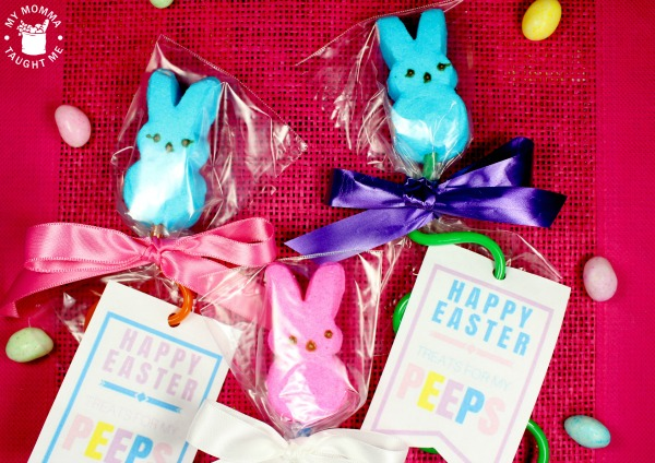 Easter Peeps On Straws