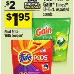 Tide Pods Or Gain Flings Sale At Dollar General