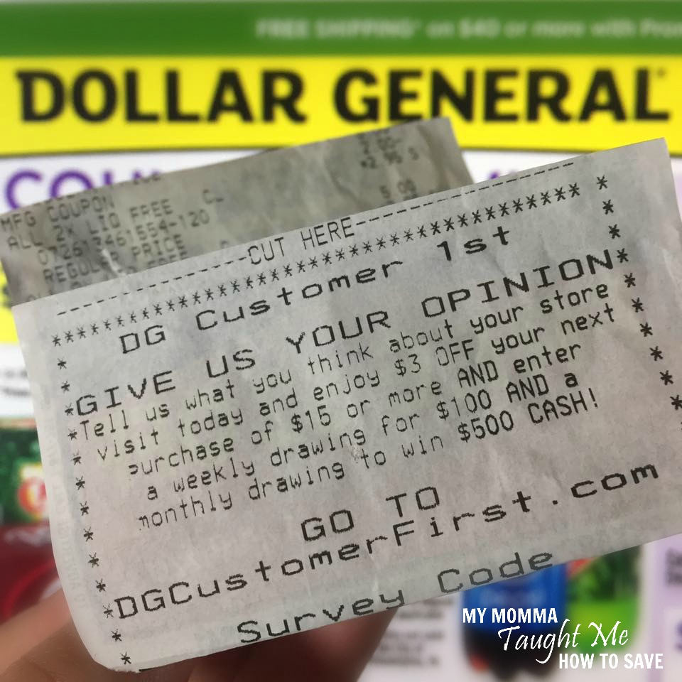 Dollar General Deal Ideas Using The Off Survey Coupon - Invoices free dollar store online