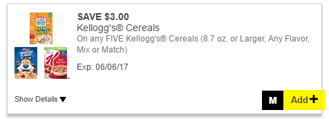 Kelloggs Cereal Digital Coupon At Dollar General