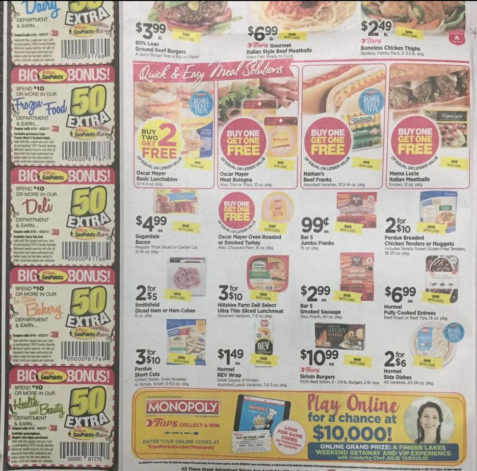 Tops Markets Ad Scan Week Of 4 16 17 To 4 22 17 Page 2b