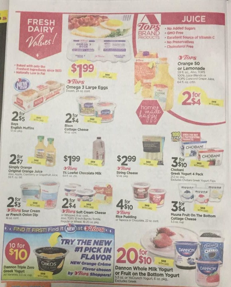 Tops Markets Ad Scan Week Of 4 16 17 To 4 22 17 Page 4a