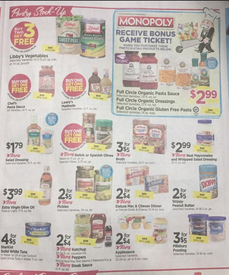 Tops Markets Ad Scan Week Of 4 16 17 To 4 22 17 Page 5a