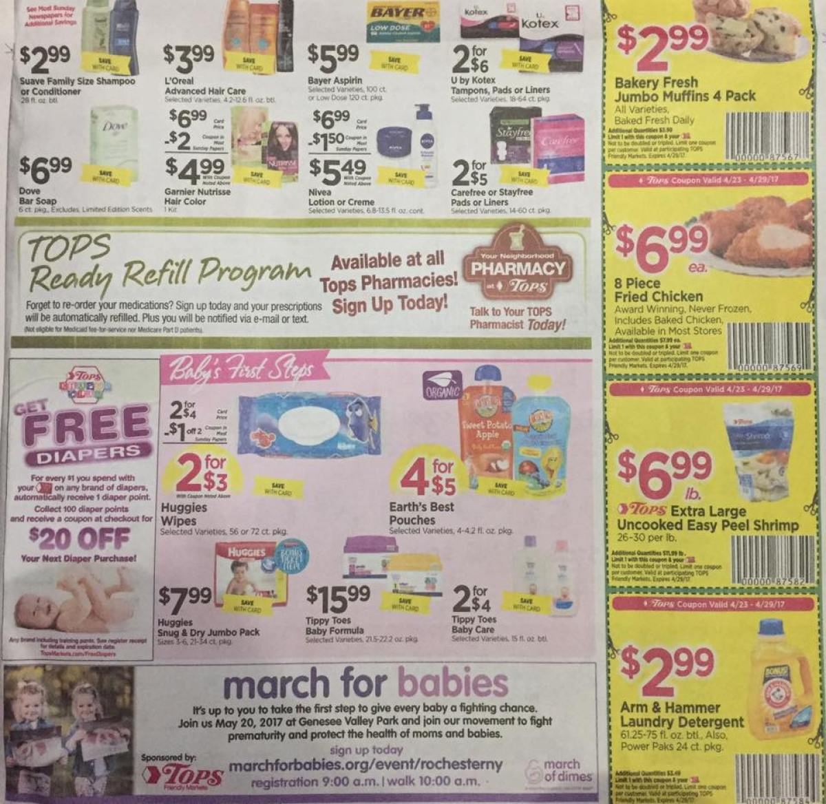 Tops Markets Ad Scan Week Of 4 23 17 To 4 29 17 Page 7b