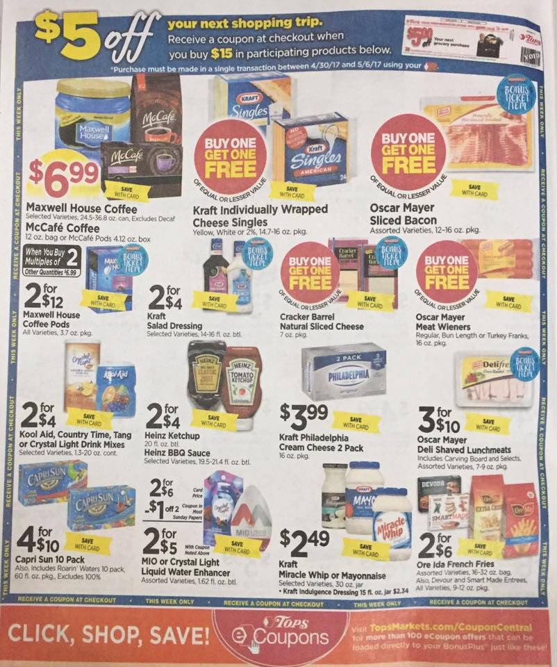 Tops Markets Ad Scan Week Of 4 30 17 To 5 6 17 Page 4a
