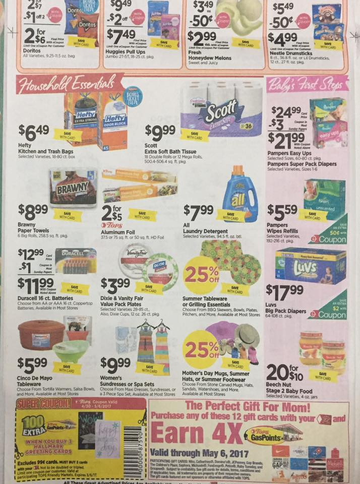 Tops Markets Ad Scan Week Of 4 30 17 To 5 6 17 Page 4b
