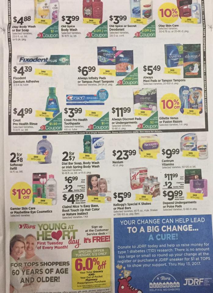 Tops Markets Ad Scan Week Of 4 30 17 To 5 6 17 Page 5b