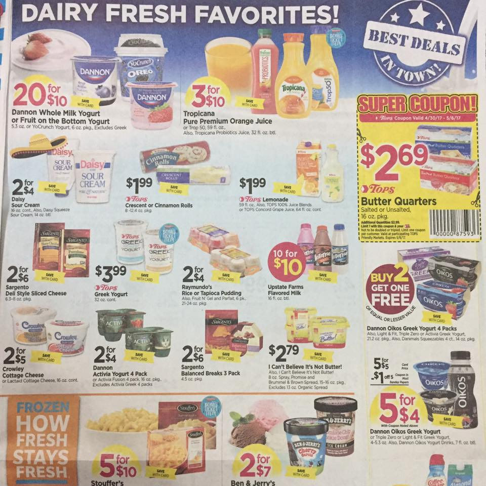 Tops Markets Ad Scan Week Of 4 30 17 To 5 6 17 Page 7a